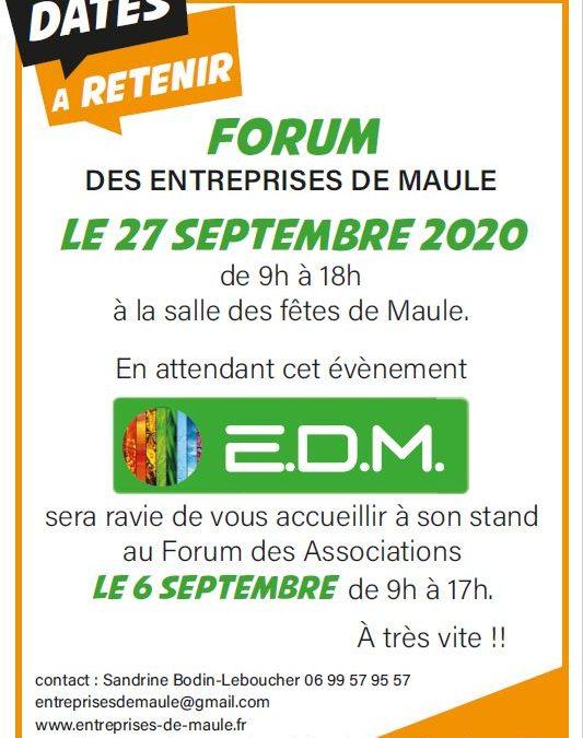 Forum des entreprises le 27 septembre 2020